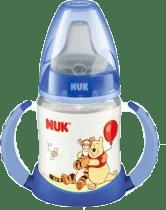 NUK Butelka do nauki picia Disney (silikon) 150 ml – niebieska