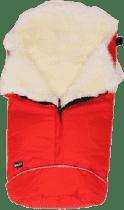 B.O.Z.Z Fusak do kočárku z ovčí vlny - dlouhý vlas, Red / White