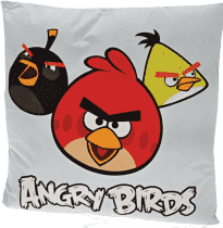 MIKRO TRADING Vankúš Angry Birds modrý