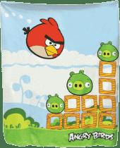 MIKRO TRADING Kołdra Angry Birds – niebiesko-zielona