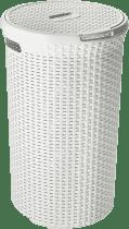 CURVER Kosz na pranie okrągły Natural Style 48l, biały