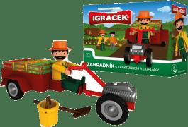IGRÁČEK Ogrodnik z traktorkiem i dodatkami