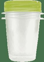 CURVER Pojemniki na żywność Take Away Twist 2 x 1l, zielone