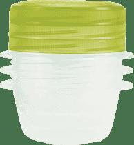CURVER Pojemniki na żywność Take Away Twist 3 x 0.5l, zielone