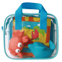 LUDI Hračky a kniha do kúpeľa – modrá