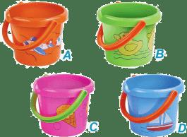 HM STUDIO kýblik na piesok mix farieb - záhradné náradie