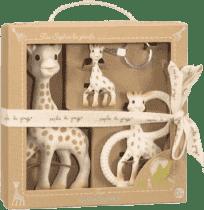 VULLI Trio żyraf Sophie - żyrafa Sophie, gryzaczek i breloczek do kluczy