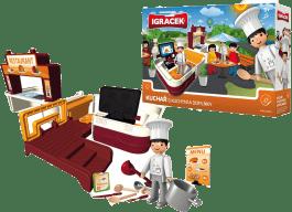IGRÁČEK Kuchár s kuchyňou a doplnky