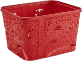 CURVER Koszyk City Box London, czerwony