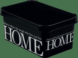 CURVER Úložný box Home White/Black L