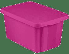 CURVER Pudełko do przechowywania z wiekiem Essentials 45l, fioletowe
