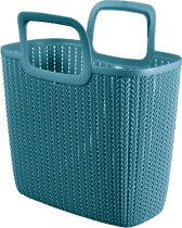 CURVER Kosz na zakupy Knit, niebieski