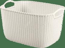 CURVER Košík obdĺžnikový Knit 8l, biely
