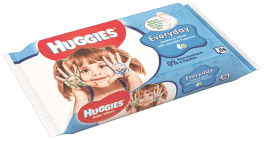 HUGGIES® Single Everyday, 56 ks - vlhčené ubrousky