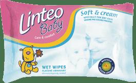 LINTEO Baby Vlhčené ubrousky Soft & Cream 24 ks