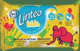 LINTEO Kids Chusteczki nawilżane szkolne 15 szt.