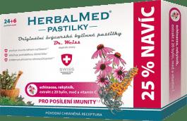 HERBALMED Dr.Weiss Echinacea+rakytník+vitamin C 24+6 pastilek pro posílení IMUNITy