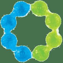 MUNCHKIN - Chladivé gelové kousátko – kroužek – modrá/zelená