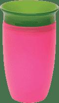 MUNCHKIN - Juniorský netečúci hrnček 360 ° 296 ml - ružová