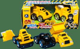 MIKRO TRADING Auto stavební 2ks - míchačka / jeřáb