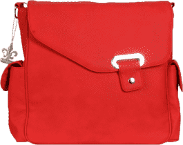 KALENCOM Torba do przewijania Vegan Strawberry Red