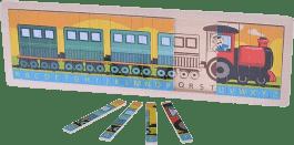 MIKRO TRADING Drewniany sorter - pociąg 45x15x1cm