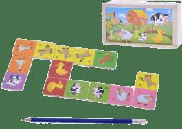 MIKRO TRADING Drewniane domino - zwierzęta domowe