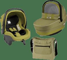PEG-PÉREGO Zestaw Gondolka + Fotelik samochodowy + torba modular XL Green tea