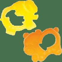 CANPOL Babies Chladící kousátko medvídek/slon – oranžová