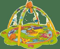 CANPOL Babies Hrací koberec s hrazdičkou ZOO