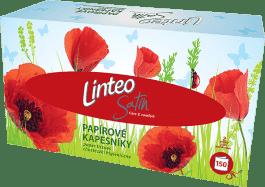 LINTEO Satin Papierové vreckovky box, biele, 150ks, 2 vrstvové