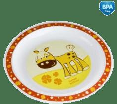 CANPOL Babies Plastový talíř – červená