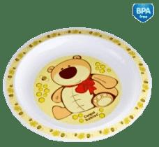 CANPOL Babies Plastový talíř – žlutá