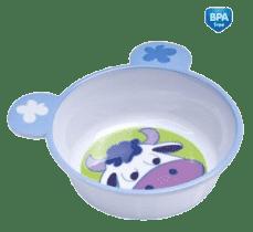 CANPOL Babies Melaminová miska protiskluzová s ouškama – kravička