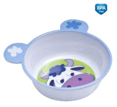 CANPOL Babies Melamínová miska protišmyková s uškami - kravička