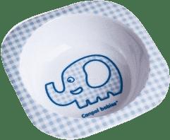 CANPOL Babies Melaminová miska čtvercová – modrá