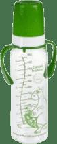 CANPOL Babies Láhev s jednobarevným potiskem 250 ml s úchyty bez BPA – zelená