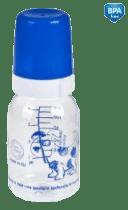CANPOL Babies Láhev s jednobarevným potiskem 120 ml bez BPA – modrá