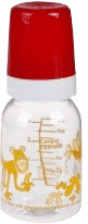 CANPOL Babies Fľaša s potlačou safari 120 ml bez BPA - červená
