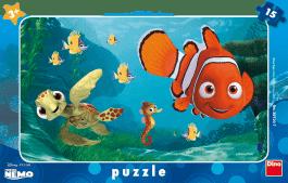 DINO Doskové Puzzle Nemo a korytnačka 15ks