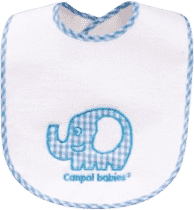 CANPOL Babies Podbradník froté / EVA fólie slon / králik suchý zips - slon