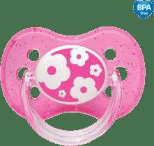 CANPOL Babies A - Šidítko sil. třešinka 0-6m NATURE – růžové