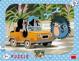 DINO Deskové Puzzle Krtek a autíčko