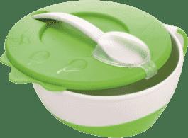 CANPOL Babies Miska s lžičkou- zelená