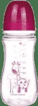 CANPOL Babies Fľaša EasyStart jednofarebná 300 ml bez BPA- ružová