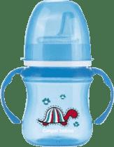 CANPOL Babies Tréningový hrnček EasyStart zvieratka 120ml - modrá
