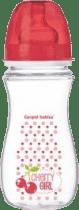CANPOL Babies Láhev EasyStart Fruits 300 ml bez BPA- červená