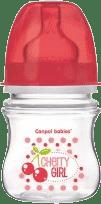 CANPOL Babies Láhev EasyStart Fruits 120ml bez BPA- červená