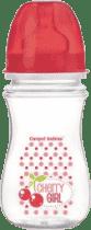 CANPOL Babies Fľaša EasyStart Fruits 240ml bez BPA- červená