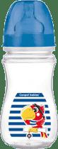 CANPOL Láhev EasyStart Piráti 240ml 0% BPA-tmavě modrá